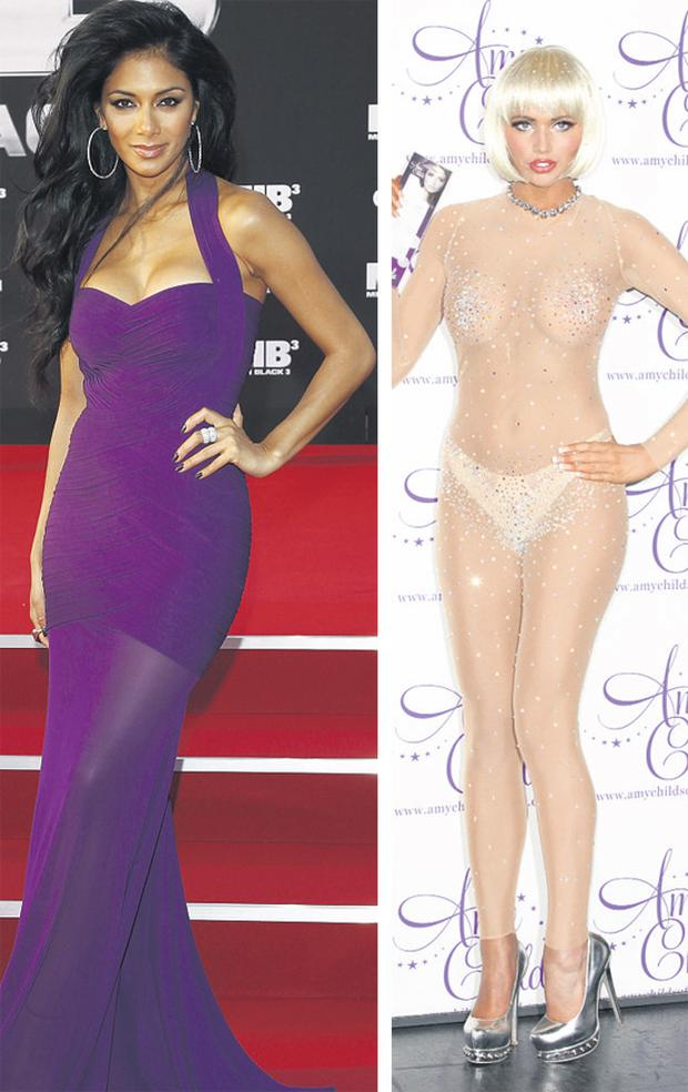 Nicole Sherzinger and Amy Childs.