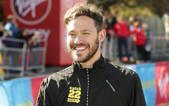 Will Young at the start of during the 32nd Virgin London Marathon in London in April 2012. Photo: PA