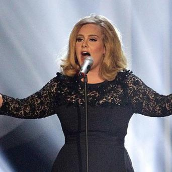 Adele dedicated the Ivor Novello gong to her manager