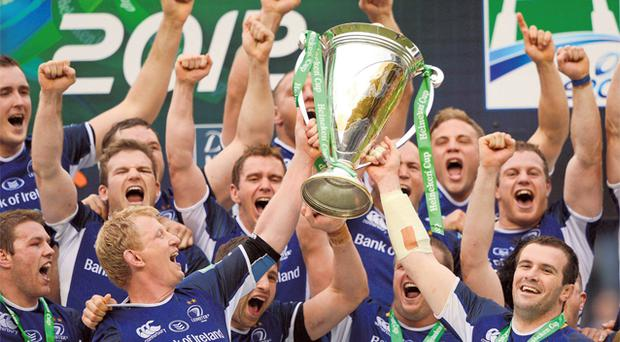 Leinster celebrate their third Heineken Cup success in four years after defeating Ulster 42-14 in Twickenham on Saturday