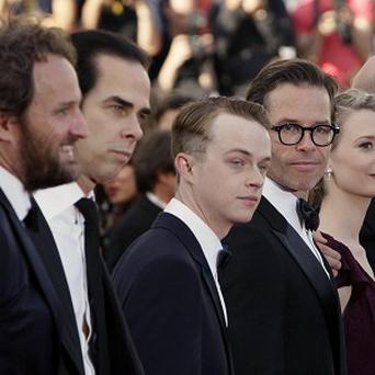 At the Cannes screening of Lawless are (from left) Jason Clarke, Nick Cave, Dane Dehaan, Guy Pearce, Mia Wasikowska and director John Hillcoat