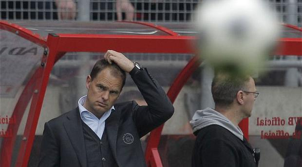 No go: Frank de Boer wants to stay at Ajax and see out the project he has started. Photo: AP