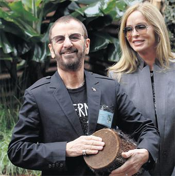 Guests at the Chelsea Flower Show Ringo Starr with wife Barbara Bach