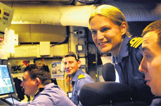 Commander Sarah West, who takes up her new post today, is the first woman in the history of the British navy to command a major warship