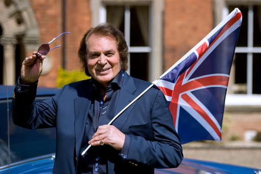 Engelbert Humperdinck outside his home in Leicestershire.