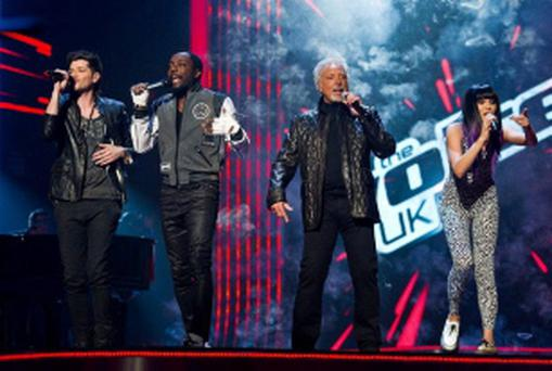 Embargoed to 0001 Tuesday May 22For use in UK, Ireland or Benelux countries only. BBC handout photo of the judges on The Voice (left to right) Danny O'Donoghue, will.i.am, Tom Jones and Jessie J. BBC1 boss Dany Cohen said he would 'love' all four celebrity coaches on The Voice to come back for a second series. PRESS ASSOCIATION Photo. Issue date: Tuesday May 22, 2012. The channel controller, who commissioned the talent search, said the 'constructive criticism' of Sir Tom, Jessie J, Will.i.am and O'Donoghue was 'one of the great aspects of the show'. See PA story SHOWBIZ Voice. Photo credit should read: BBC/PA Wire NOTE TO EDITORS: Not for use more than 21 days after issue. You may use this picture without charge only for the purpose of publicising or reporting on current BBC programming, personnel or other BBC output or activity within 21 days of issue. Any use after that time MUST be cleared through BBC Picture Publicity. Please credit the image to the BBC and any named photographer or independent programme maker, as described in the caption.