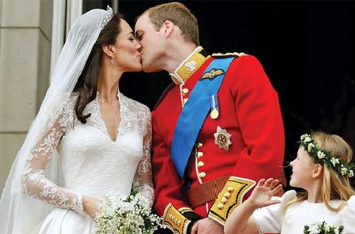The Duke of Cambridge, pictured kissing his bride on the balcony of Buckingham Palace, had been kept awake the night before by wedding nerves and noisy revellers. Photo: PA
