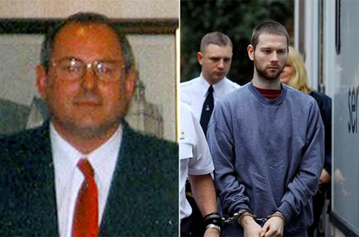 Christopher Hunnisett (right), will be sentenced today for killing Peter Bick (left), just four months after he was freed from prison following his acquittal for a vicar's murder.