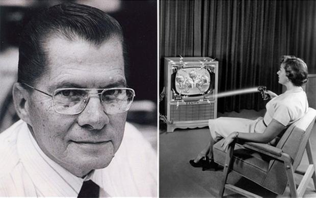 Eugene Polley, inventor of the remote control, dies aged 96. Photo: AP