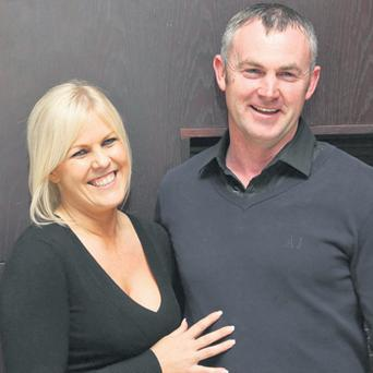 Orla Mulvey, with her husband Martin, who bought back her father's house in Westmeath