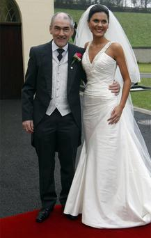 Mickey Harte with daughter Michaela on her wedding day
