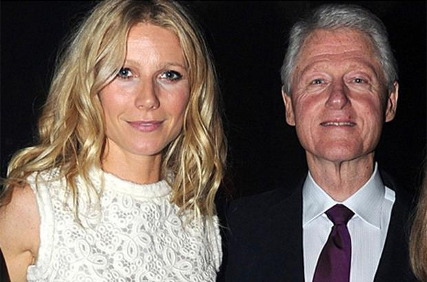 Hosted by Bill Clinton (right), the night was attended by actress Gwyneth Paltrow (left)