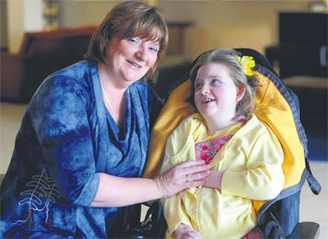 Deirdre Horan in Tralee with her daughter Rachel (15), who suffers from Rett Syndrome.