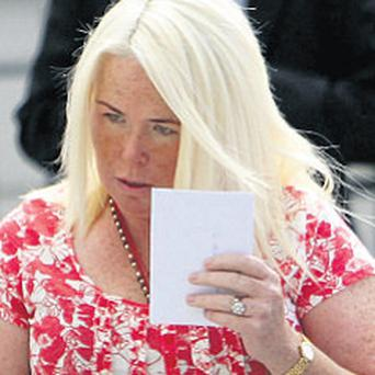 Mary Connors: jailed for three years yesterday