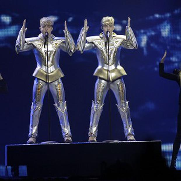 Jedward are in the Eurovision Song Contest final in Baku, Azerbaijan