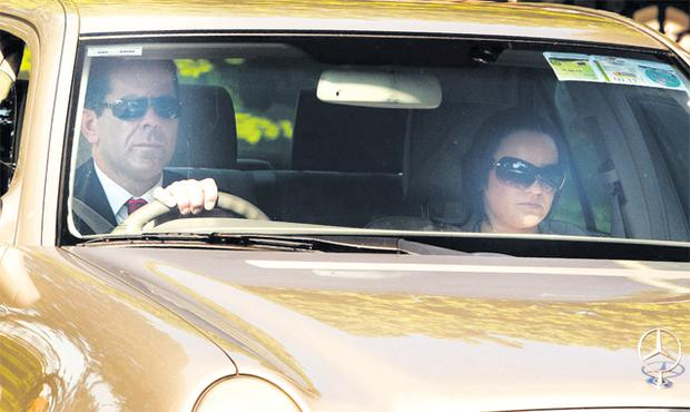 Fred Forsey and his girlfriend Karen Morrissey arriving at Waterford Circuit Court yesterday