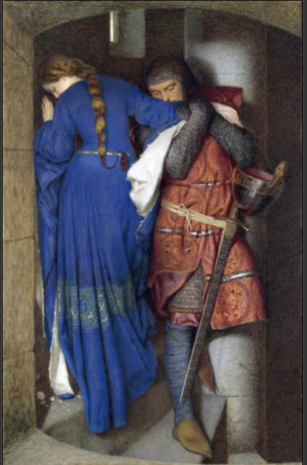 Hellelil and Hildebrand, The Meeting on the Turret Stairs: Frederic Wiliam Burton (National Gallery)