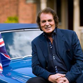Engelbert Humperdinck carries a gift from Elvis Presley for luck