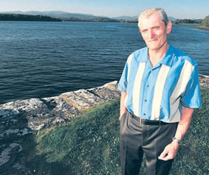 Retired detective garda Tom Needham at the spot where he saved the life of killer John Gallagher.