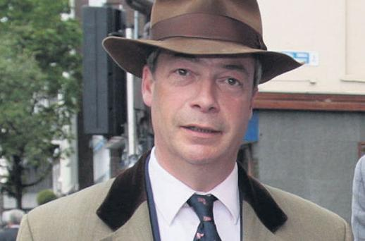 British MEP Nigel Farage of UKIP, which has spent around €200,000 on anti-treaty leaflets