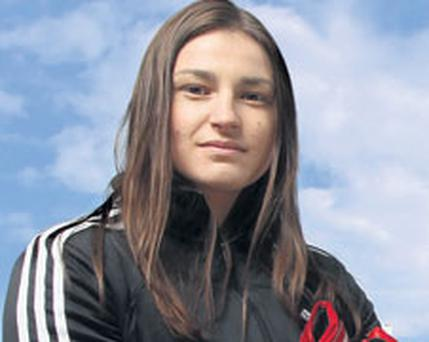 FIGHTING FIT: But Katie Taylor's gym in Bray lacks the most basic of amenities