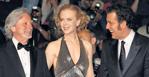 CANNES: 'Hemingway and Gellhorn' director Philip Kaufman, left, and cast members Nicole Kidman and Clive Owen