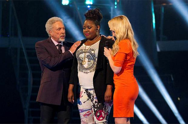 Tom Jones, Ruth Brown and Holly Willoughby on The Voice. Photo: PA