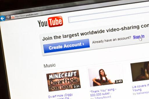 Youtube. Photo: Thinkstock