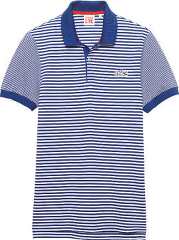 Lacoste striped polo shirt, €100, Arnotts