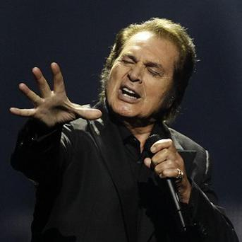 Engelbert Humperdinck performs during the final of the 2012 Eurovision Song Contest (AP/Sergey Ponomarev)