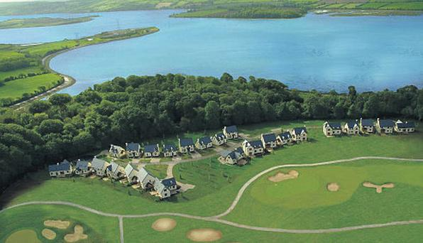 Some of the lodges at Fota Island Golf Resort.