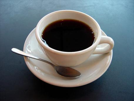 The book advocates drinking black coffee before you exercise.