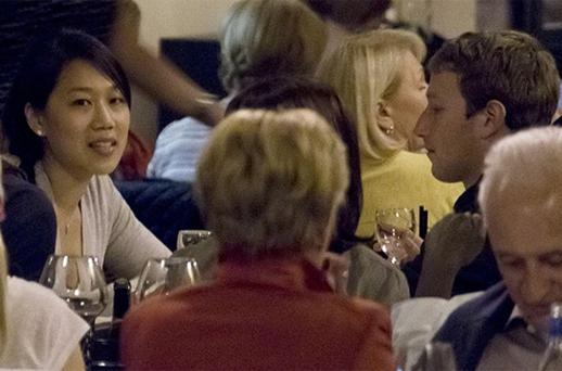 Mark Zuckerberg and wife Priscilla Chan enjoy a romantic meal in Rome during their honeymoon