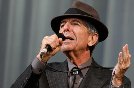 Leonard Cohen sings at his comeback tour in 2008. He agreed to the tour when two tribute concerts in Dublin performed by artists including Nick Cave, Jarvis Cocker and Lou Reed, inset, were a huge success