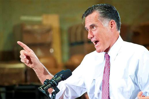 US Republican presidential candidate Mitt Romney. Photo: Reuters