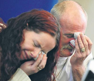 Mick Philpott and his wife Mairead speak to the media after the fire that left their six children dead. Photo: RUI VIEIRA/PA WIRE