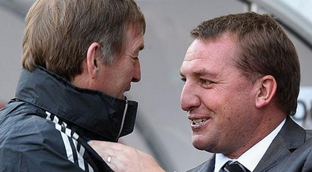 Cometh the hour: Brendan Rodgers (right) could become the new Liverpool manager Photo: Getty Images