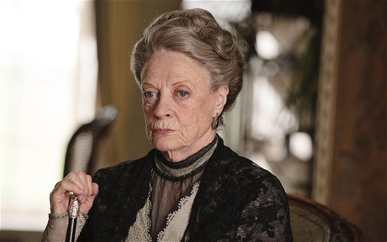 Dame Maggie as the Dowager Countess of Grantham.