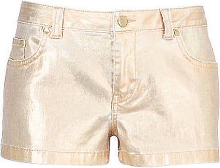 Gold shorts, €47.50, M&S