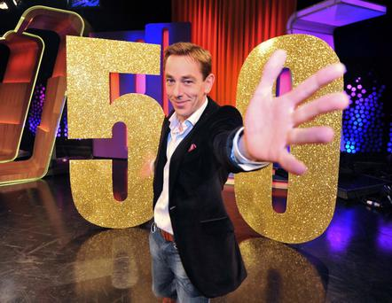 The Late Late show presenter Ryan Tubridy, at a photocall to celebrate its 50th anniversary which will take place on Friday June 1st. Pic credit; Damien Eagers 18/5/2012