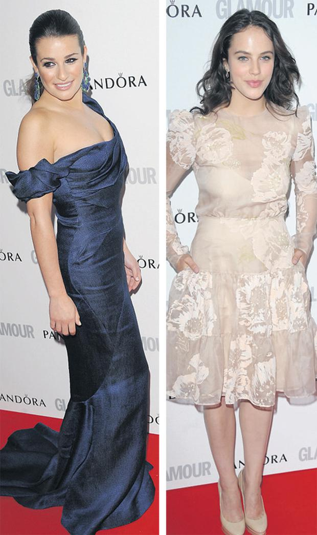 Lea Michele and Jessica Brown Findlay
