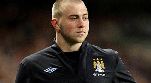Manchester City's Michael Johnson who has been arrested on suspicion of drink-driving after an early-morning car crash. Photo: PA
