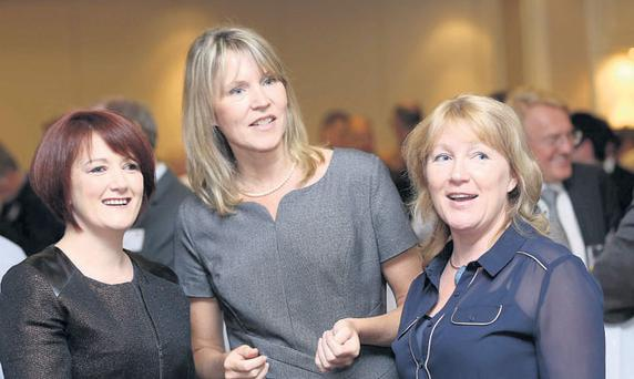 At the Irish Small & Medium Enterprise Association's annual lunch yesterday in the Burlington Hotel, Dublin, were delegates Jackie McNabb, Sheelagh Daly and Miriam Byrne.