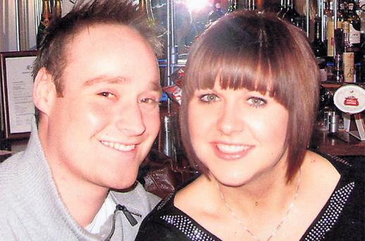 Andrew Cantle with his girlfriend, Beth Webster