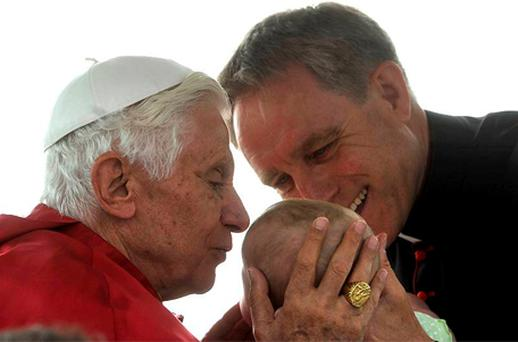 Pope Benedict with his secretary Mgr Ganswein
