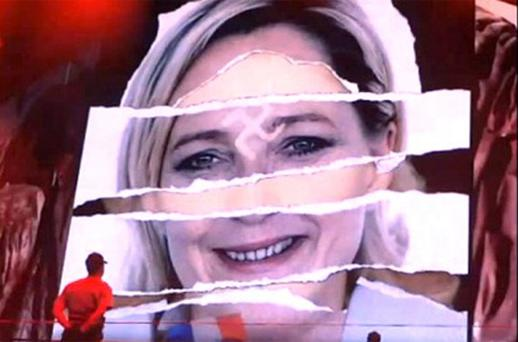 Furious, Miss Le Pen threatened to sue the singer if she kept the video unchanged when she performs in Paris on the July 14 national holiday and in Nice in August