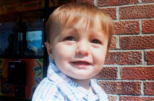 Kieren Guess aged 2, was mauled by two dogs