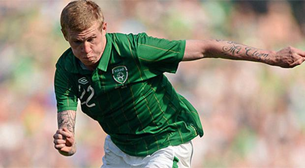 James McClean in action for Ireland