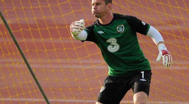 3 June 2012; Republic of Ireland's Shay Given in action during EURO2012 squad training ahead of their Friendly International against Hungary on Monday. Republic of Ireland EURO2012 Squad Training, Ferenc Puskás Stadium, Budapest, Hungary. Picture credit: David Maher / SPORTSFILE