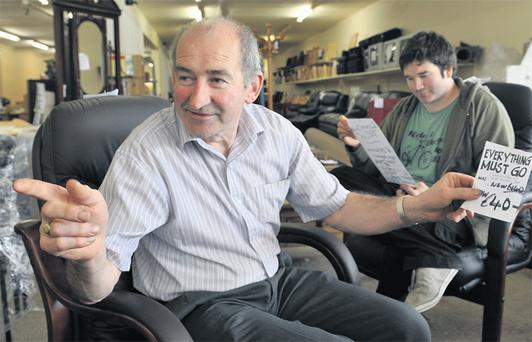 Liam and Micheal O'Brien, who have been forced to close their furniture centre in Killarney